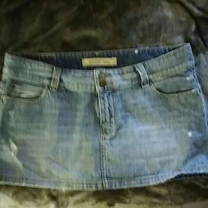 Hollister denim jean skirt
